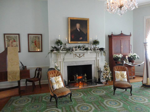 Photograph of the interior of historic Laurel Hill Mansion